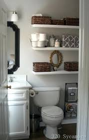 Above Toilet Storage Ideas Open Floating Shelves Over The For Bathroom