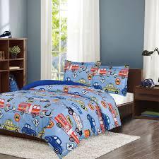 Crest Home Adore Full 3 Pc Bedding Comforter Set, Boys Cars Trucks ...