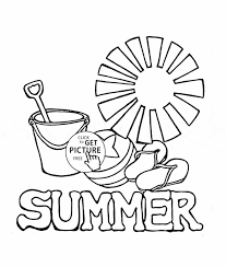 Summer Fun Coloring Book Pages Download Printable For Kids Inside Free
