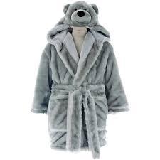 robe de chambre polaire enfant peignoir enfant polaire à capuche teddy sensei maison pas cher à
