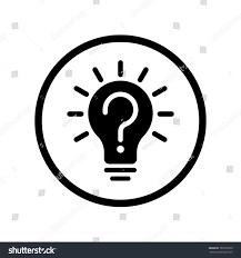vector light bulb icon question sign stock vector 765797659