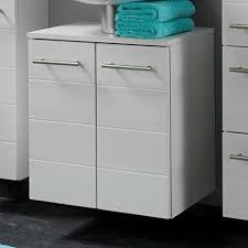 pharao24 waschbeckenunterschrank in weiß hochglanz 50 cm breit