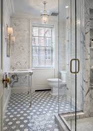Faux Marble Hexagon Floor Tile by Jennifer Eisenstadt Design Stunning Bathroom Design With Marble