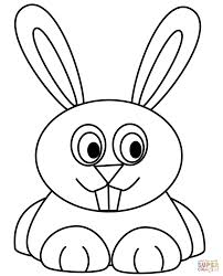 Rabbits Coloring Pages Cartoon Rabbit Printable Bunny Ears Cartoons