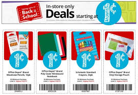 fice Depot Released Coupons for Additional $ 01 School Supplies