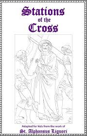 Beautiful Looking Stations Of The Cross Coloring Pages In Catholic Playground Image Gallery Collection