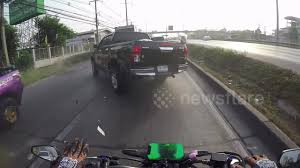 100 Truck Dash Cam Cam Shows Moment Motorcyclist Smacks Into Rear Of Pickup