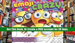 Free Ebook Download Emoji Crazy Coloring Book Read Online