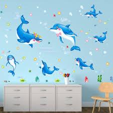 chambre pour amants amants de dauphin stickers muraux de bande dessinée