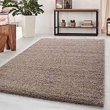 teppich hochflor teppich shaggy teppich einfarbig wohnzimmer teppich farbe beige maße 60 cm x 110 cm