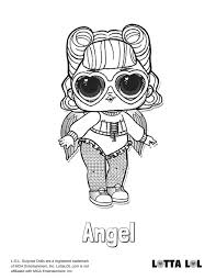 Angel Lol Surprise Doll Coloring Page