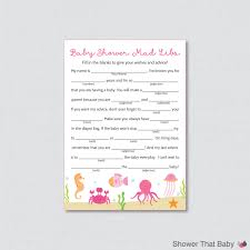Halloween Mad Libs by Under The Sea Baby Shower Mad Libs Printable Baby Shower