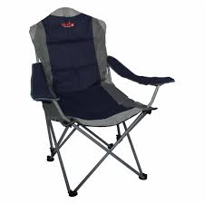 TOTAI Outdoor Adjustable Smart Camping Chair Navy Blue And Grey, Steel