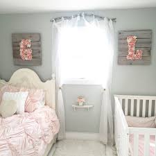 Little Girls Bedroom Shabby Chic Branch Curtain Rod Target Bedding