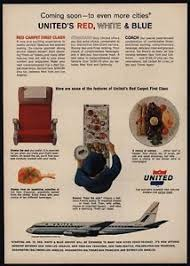 Image Is Loading 1965 UNITED AIRLINES First Class Stewardess Red Carpet