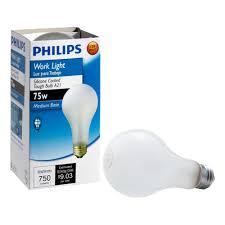 philips 75 watt incadscent a21 tuff guard light bulb 415273 the