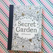 Palette Paper Carries Her Secret Garden Postcard Book How Lovely It Would Be To Color A Few Of These And Send Friends Family Some Happy Mail