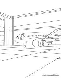 Propeller Plane In The Hangar Coloring Page