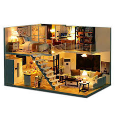 DIY Doll House Miniature Dollhouse With Furniture Kit Wooden House