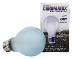 buy lumiram chromalux a19 60w frosted light bulb spectrum