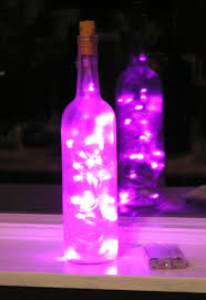 Decorative Wine Bottles With Lights by Frosted Clear Wine Bottle Light With Pink Led Lights Inside