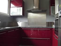 cuisine inox sur mesure crédence inox brossé pour la cuisine plan de travail inox sur mesure