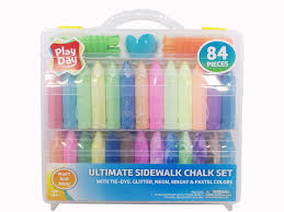 Amazon.com: Play Day 84 Piece Ultimate Sidewalk Chalk Set: Toys & Games