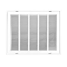 truaire 20 in x 20 in white return air filter grille h190 20x20