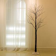 3ft Pre Lit Blossom Christmas Tree by 72led 1 5m 5ft Black Twig Snowy Tree Light Indoor Outdoor Party