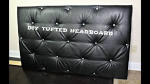 Diamond Tufted Headboard With Crystal Buttons by Diy Tufted Headboard No Sewing Method Youtube