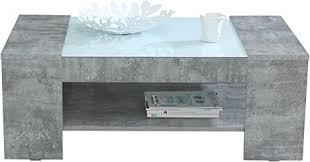 forte brady couchtisch mit ablage holz betonoptik 120 x 71 x 45 cm
