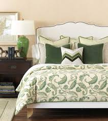 Home Design And Interior Gallery Of Awesome Floral White Cream Green Decorative Pillows For Bed