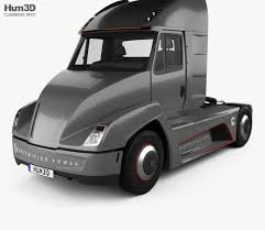 100 Cummins Truck AEOS Electric Tractor 2018 3D Model Vehicles On Hum3D