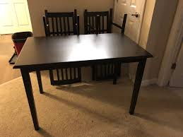 Roommate And I Are Medical Students Bought A New Dining Room Table Selling Our Old One This Is 5 Piece Dinner Set From Walmart