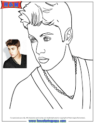 Justin Bieber Calendar Picture Coloring Page