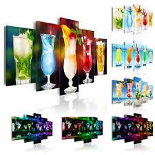 cocktails küche wandbilder bilder vlies leinwand