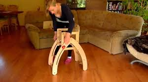 Amish 3 In 1 High Chair Plans by Wooden Rocking Horse High Chair Toddler U0027s Chair And Stool Youtube