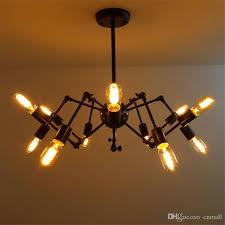 new spider chandelier vintage wrought iron pendant l loft