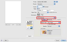 Choose Plain Paper In Media Type