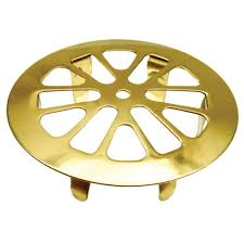 Bathtub Drain Strainer Home Depot by 2 In Snap In Tub Strainer In Polished Brass 88928 The Home Depot
