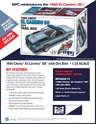 1/25 MPC '86 Chevy El Camino & Trail Bike - Truck Kit News & Reviews ... Chevrolet Chevy Cars Muscle Ss Vintage El Camino Usa Pickup Truck The El Camino Royal Knight 781983 Phscollectcarworld 1970 Chevy Vs 2004 Ssr Generation Gap Pickup Cars 196466 Rl Doors Prices Vary Depending On List Of Carbased Pick Ups Utes Conquista 1987 1973 Monster Truck For Gta San Andreas Classic Car For Sale 1968 In Kenosha Vintage Stock Photos Daily Turismo Hot Rod 1975 Laguna S3 Informations Articles Bestcarmagcom