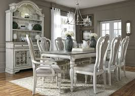 Magnolia Manor Antique White 108 Extendable Rectangular Dining Room Set From Liberty