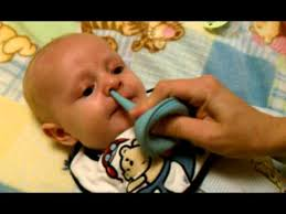 how to snot out of a baby s nose with a bulb syringe