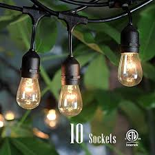 outdoor string lights with 10 dropped sockets shine hai ullisted