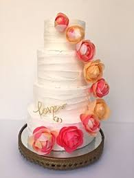 Blush Wedding Cake Perth Subtle Frosted 4 Tier With Pastel Wafer Flowers