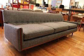 Grey Vintage Mid Century Modern Sofa