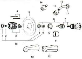 Bathtub Drain Assembly Diagram by Valley Back To Back Tub Shower Replacement Parts
