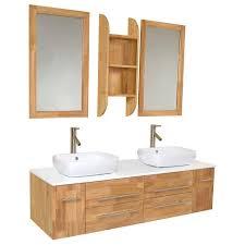Bathroom Vanity Tops With Sink by Fresca Fvn6119nw Bellezza Modern Double Vessel Sink Bathroom