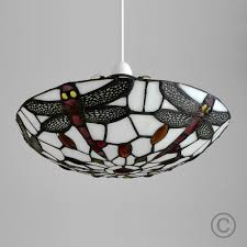 Tiffany Style Lamp Shades by Tiffany Style Titania Antique Red And White Glass And Jewelled