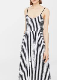 striped cotton dress women mango usa